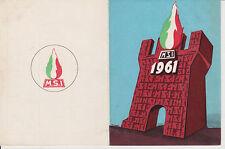 AA07-MOVIMENTO SOCIALE ITALIANO -MSI-TESSERA ANNO 1961 SEZ. DI FAENZA