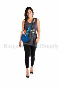 Outward Hound Pooch Pouch Dog Puppy Pet Courier Style Sling Carrier Blue