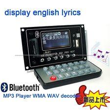 Bluetooth Audio Receiver LCD MP3 Player WMA WAV decoder audio board FM Radio