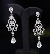 Chandelier Dangle Clear Austrian Crystal Rhinestone Earrings Studs Prom Wed E22