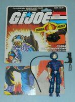 1985 GI Joe Cobra Communications Tele Vipers v1 Figure Complete & File Card Back