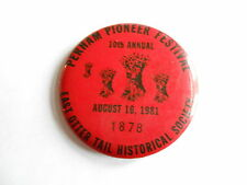 Vintage 1981 Perham Pioneer Festival East Otter Tail Historical Souvenir Pinback