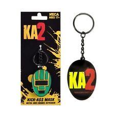 Kickass 2 II Official Movie Mask Metal & Enamel Superhero Anti-Hero Keychain NEW