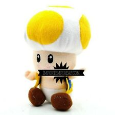 SUPER MARIO BROS. TOAD GIALLO PELUCHE pupazzo kart wii u party yellow plush new