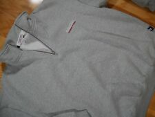 Vtg Nautica Competition SPELL OUT White Half Zip Fleece Pullover Men's Size XL