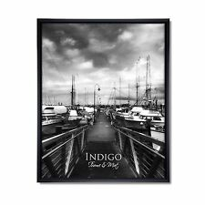Set of 24 Black Plastic 4x6 Frames, Glass
