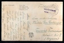 Austrian Occ. Montenegro: 1917 ppc to Hungary from Cetinje with censor