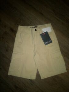 Boys New/w Tags Cherokee Heritage Khaki/Fog Cargo Shorts Sz 5 (S) Nice!