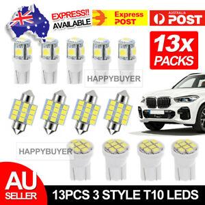 13X T10 LED 12V Light Car Bright White Festoon Globe Bulb Interior Kit 31MM 8SMD