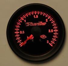 Manometro Strumento Road Italia Retroilluminato Pressione Turbo 0 +3 BAR Rosso