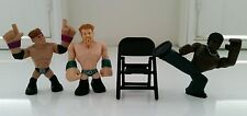 WWE Set of 4 Sheamus, R-Truth, Zack Ryder Rumblers & 1 Chair (New No Tags / Box)