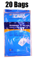 20 DVC Bags for Sears Kenmore Vacuum Cleaner Bags 5055 50557 50558 C Q Canister
