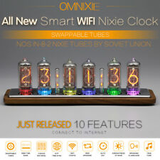 Omnixie Nixie clock,WIFI sync time,wooden case, setup via iPhone Android PC Mac