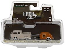 1:64 GreenLight *HITCH & TOW 10* 1968 VW Pickup Truck w/TEARDROP CAMPER NIP