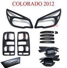 MATTE BLACK HEAD TAIL LIGHT DOOR HANDLE COVER CHEVROLET HOLDEN COLORADO RG 2012