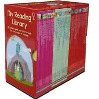 Usborne My Second Reading Library 50 Books Box Set Collection (Red) NEW