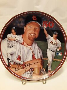 Vtg Mark McGwire Cardinals 1999 Home Run Hero Bradford Exchange Collector Plate