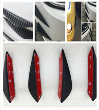 4pcs/set High Quality ABS Carbon Fiber Style Front Bumper Lip Kit Splitters Trim