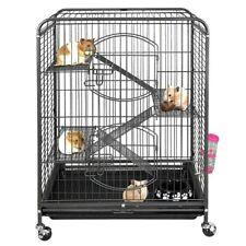 "New listing Ferret Cage Rabbit Chinchilla Rat Cage Small Animal House 37"" 4 Levels"