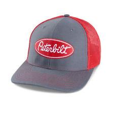 Peterbilt trucks Hat Charcoal / Red Mesh back Richardson diesel base ball cap