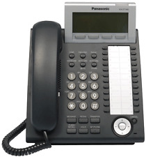 Panasonic KX-T7630 Black Phone System with Display and Headset Connector - Clean