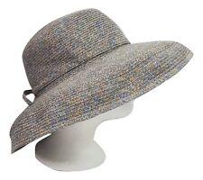KAREN KEITH Hat Multi Coloured w/Back Bow Designer Wedding Christening Holiday *