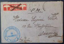 Enveloppe en franchise du Maroc pour la France, 1931