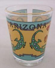 Arizona Aztec Gecko Gold Rim 1.5 oz Shot glass Collectible Free Shipping!