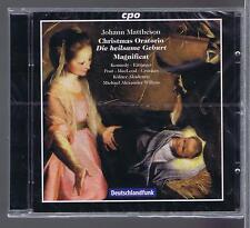 JOHANN MATTHESON CD NEW CHRISTMAS ORATORIO MICHAEL ALEXANDER WILKENS