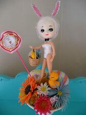 OOAK Kitschy Easter Vintage Bradley Doll Head Playboy Bunny Pixie Centerpiece