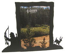 "Bow Hunting Buck Deer Picture Frame 5""x7"" V Archery Hunt"