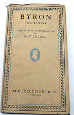 Byron for today hardback with dust jacket 1948 Roy Fuller
