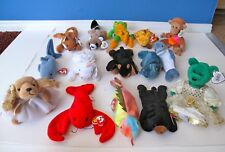 1993 -1997 Ty Beanie Babies Collection Lot of 15 Mint with Tags & Bonus Clothes