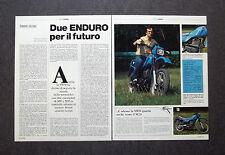 AI47- Clipping-Ritaglio -1982- SWM 350 E 500 cc , ENDURO PER IL FUTURO