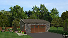 26' x 24' 2 car garage plans blueprints plan #0915