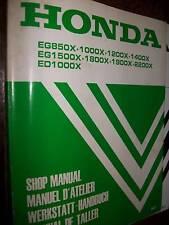Honda EG850X ED1000X Generators : WORKSHOP MANUAL