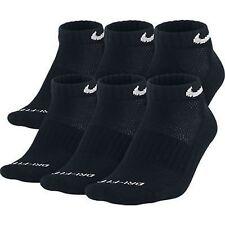 NEW Nike Dri Fit Dry Fit Cotton Black Low Cut Socks 6 Pair L 8-12 SX4447-001