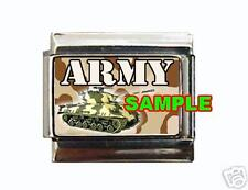 Army Tank #1 Custom Italian Charm Military USA Camo