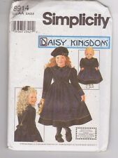 Simplicity 8914 Daisy Kingdom Child Dress and 18 Inch Doll Pattern Sz 3-6 Uncut