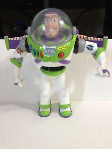"Toy Story 3 Buzz Lightyear 12"" Talking Figure - Speaks Spanish & English, Works"