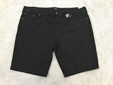 Bnwt Gents black cotton River Island denim shorts size 46 waist