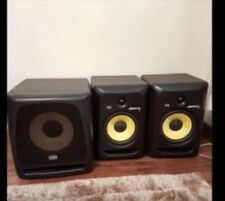KRK Rokit RP6 G3 and KRK 10s subwoofer. Original boxes, XLR cables and stands