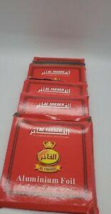 LOT of 5 Al Fakher Foil Pre Pocked 50pack 250 total Damaged  box NEW