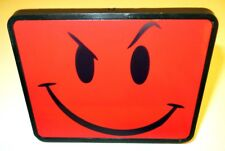 "NEW 1-1/4"" Novelty Hitch Cover RED SMILEY FACE Funny Sarcastic CAR TRUCK VAN SUV"