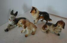 Vintage Porcelain Puppy Dog Figure Lot 2 Japan