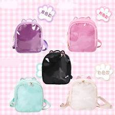 Shoulders Bag Sweet Girl Kawaii Cat Ear Lolita Backpack Transparency School Bag