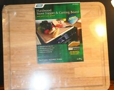 "New Camco RV & Marine Hardwood Stove Topper & Cutting Board 17"" x 19.5"" x .75"""