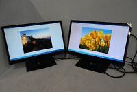 """LOT-2 Planar PLL2410W 24"""" Widescreen LED LCD Monitors 5ms VGA DVI Full HD 1080p"""