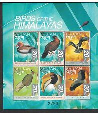 Bhutan 1264 - Birds Of The Himalayas. Sheet Of 6. MNH OG.   #02 BHUT1264