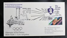TIMBRES USA : OLYMPIC TORCH DAY - NEW YORK / LOS ANGELES - 11 NJUIN 1984 - TBE